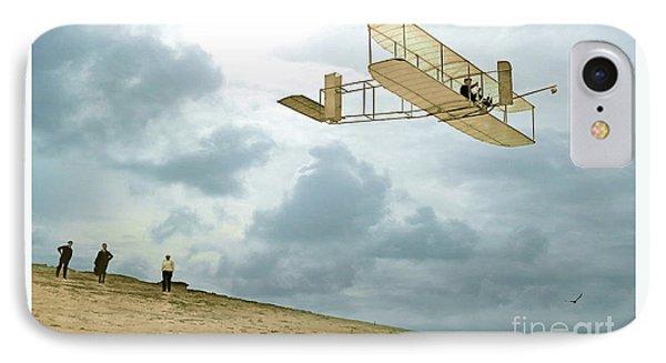 Orville Wright Soars Above Kill Devil Hill IPhone Case