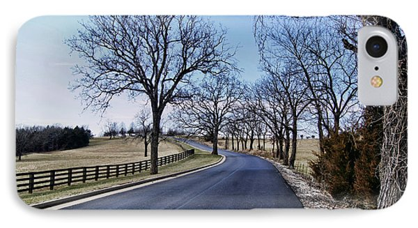 IPhone Case featuring the photograph Osage County Road by Cricket Hackmann