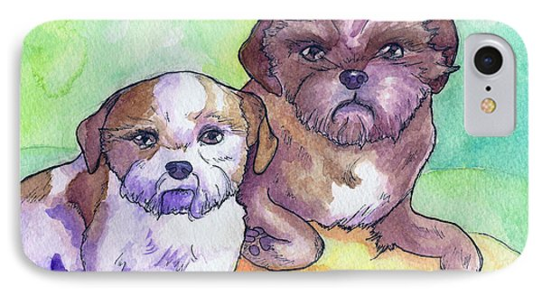 Oscar And Max IPhone Case by Whitney Morton