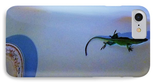 IPhone Case featuring the photograph Oscar The Lizard by Denise Fulmer