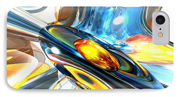 Oscillating Color Abstract Phone Case by Alexander Butler