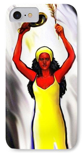 Oshun -goddess Of Love -4 IPhone Case by Carmen Cordova