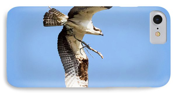 IPhone Case featuring the photograph Osprey In Flight by Ricky L Jones