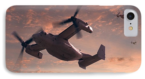 Helicopter iPhone 7 Case - Ospreys In Flight by Mike McGlothlen