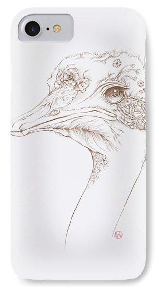 Ostrich IPhone Case by Karen Robey