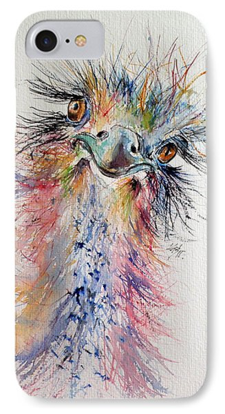 Ostrich IPhone Case by Kovacs Anna Brigitta