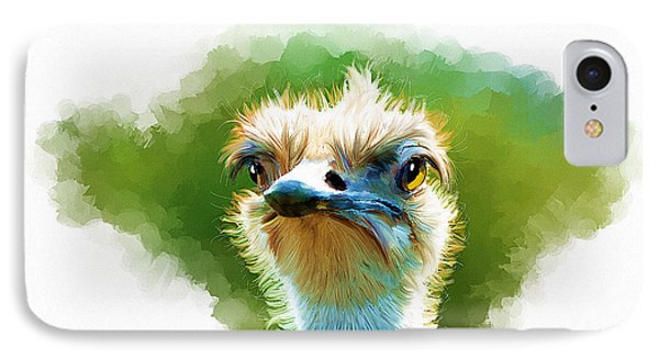 Ostrich Portrait IPhone Case