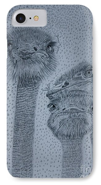 Ostrich Umbrella IPhone Case