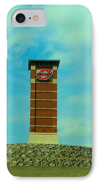 Oklahoma State University Gateway To Osu Tulsa Campus IPhone Case by Janette Boyd