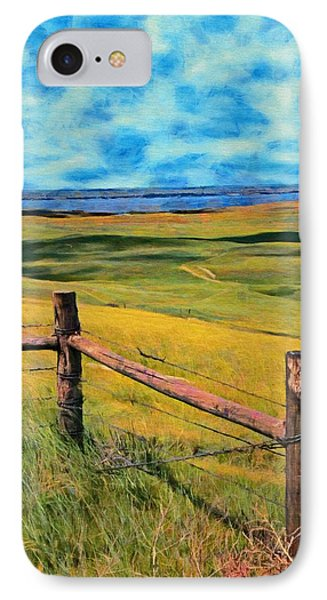 IPhone Case featuring the painting Other Side Of The Fence by Jeff Kolker