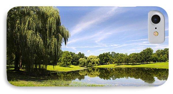 Otsiningo Park Reflection Landscape Phone Case by Christina Rollo