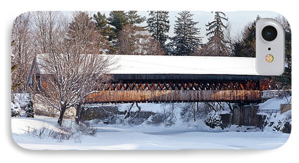 IPhone Case featuring the photograph Ottaquechee Middle Bridge by Susan Cole Kelly