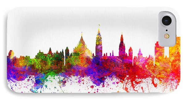 Ottawa Ontario Skyline Color02 IPhone Case