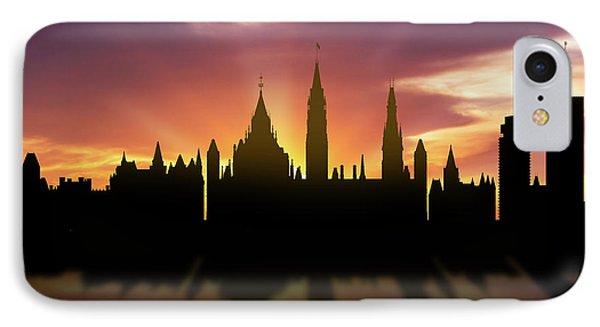 Ottawa Skyline Sunset Caonot22 IPhone Case