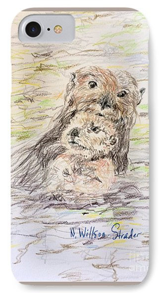 Otter And Baby IPhone Case by N Willson-Strader