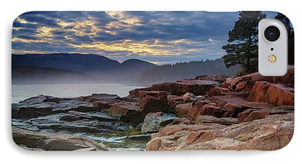 Otter iPhone 7 Case - Otter Cove In The Mist by Rick Berk