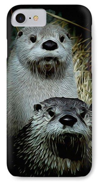 Otter Family Portrait IPhone Case