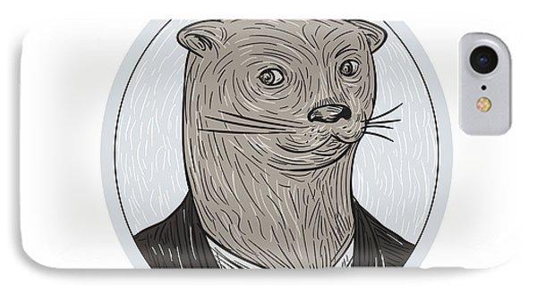 Otter Head Blazer Shirt Oval Drawing IPhone Case