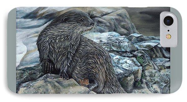 Otter On Rocks IPhone Case