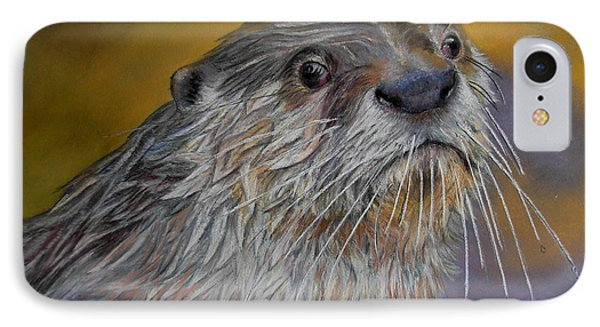 IPhone Case featuring the painting Otter Or Not by Ceci Watson