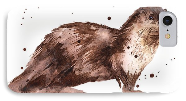 Otter Painting IPhone 7 Case by Alison Fennell