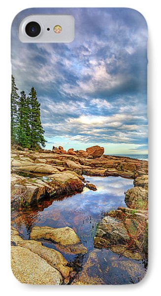 Otter Point Reflections IPhone Case by Rick Berk