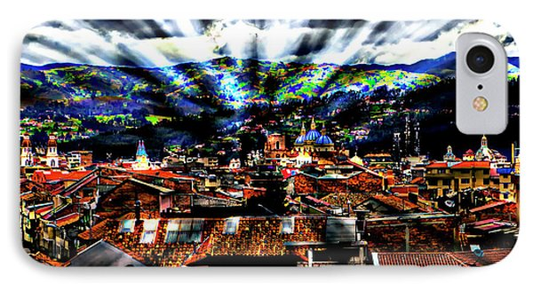 Our City In The Andes Phone Case by Al Bourassa