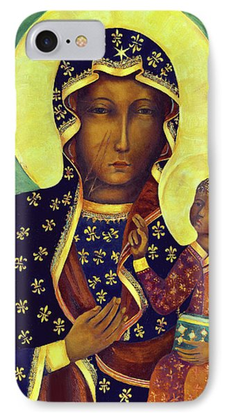 Our Lady Of Czestochowa Black Madonna Poland IPhone Case by Magdalena Walulik