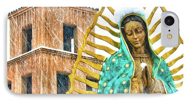 IPhone Case featuring the photograph Our Lady Of Guadalupe by Britt Runyon