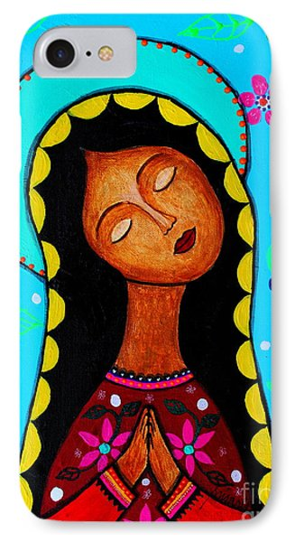 IPhone Case featuring the painting Our Lady Of Guadalupe II by Pristine Cartera Turkus