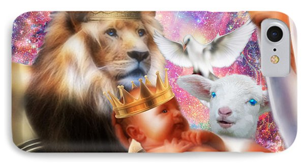 IPhone Case featuring the digital art Our Saviors Birth by Dolores Develde