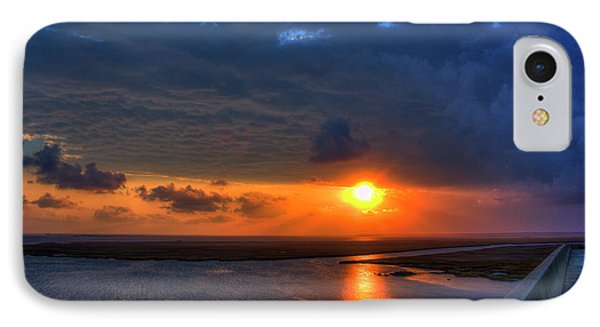 Out From Under The Storm Jekyll Island Sunset Art IPhone Case by Reid Callaway