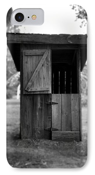 Out House In Black And White Phone Case by Rebecca Brittain