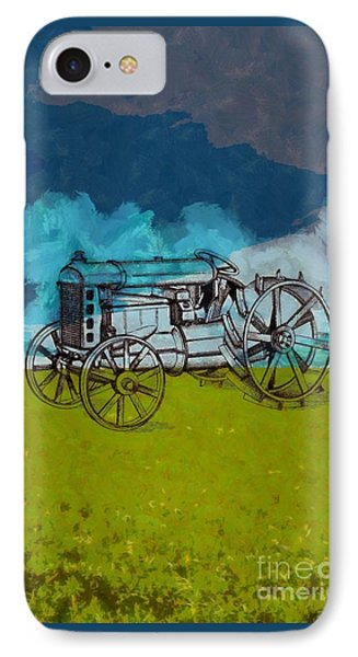Out In The Field IPhone Case by Edward Fielding