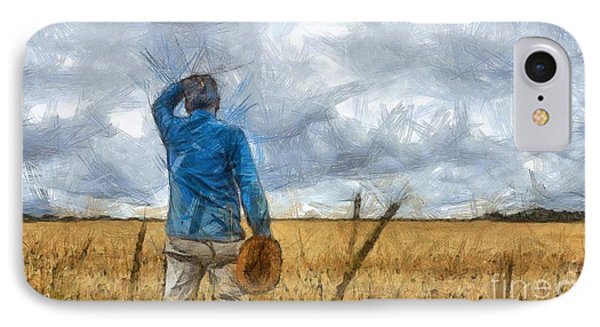 Out In The Fields IPhone Case by Edward Fielding
