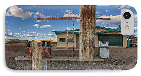 Out Of Business Gas Station IPhone Case by Gary Warnimont