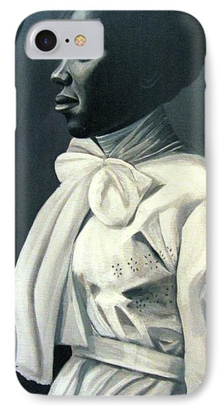 Out Of The Box Woman In Large White Bow  Phone Case by Joyce Owens