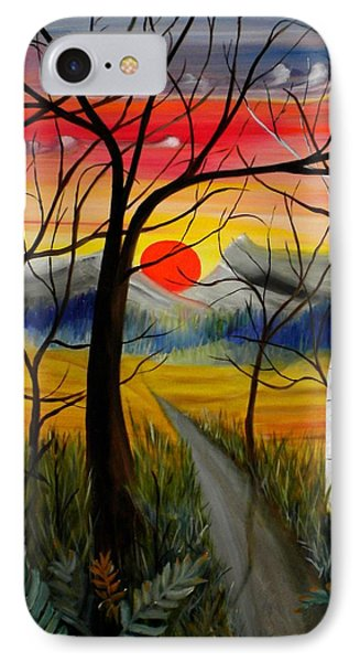 IPhone Case featuring the painting Out Of The Woods by Renate Nadi Wesley