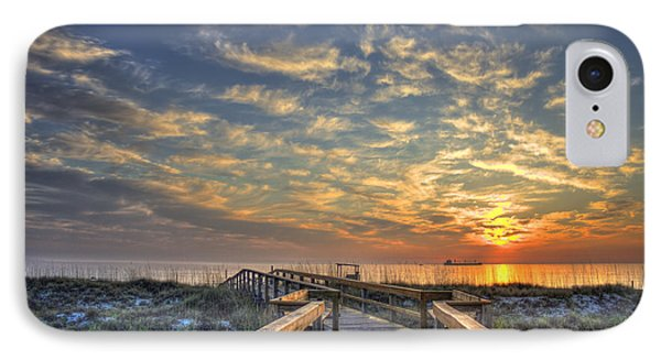 Out To Sea Too Tybee Island Georgia IPhone Case by Reid Callaway