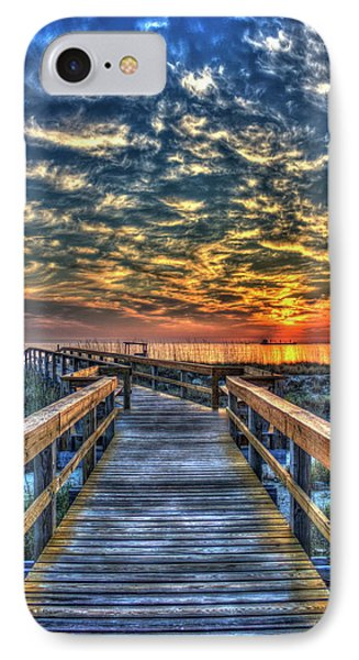 Out To Sea Tybee Island Georgia Art IPhone Case by Reid Callaway