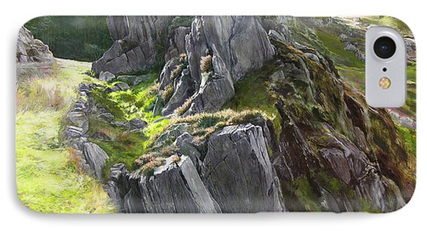 Outcrop In Snowdonia Phone Case by Harry Robertson