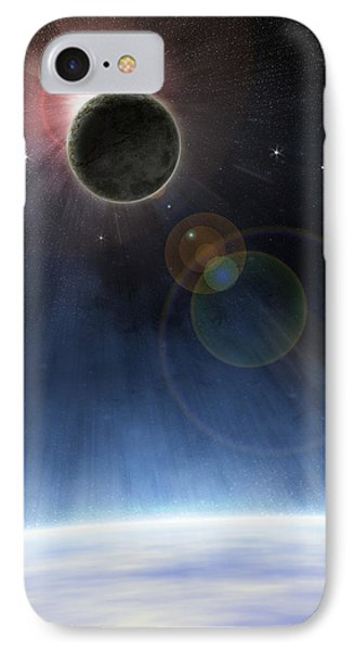 IPhone Case featuring the digital art Outer Atmosphere Of Planet Earth by Phil Perkins