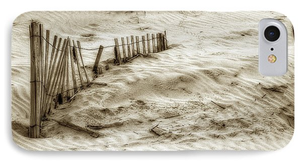Outer Banks Beach Sand Fence  Phone Case by Randy Steele