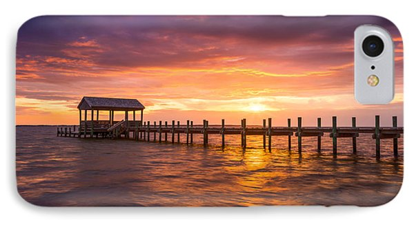Outer Banks North Carolina Nags Head Sunset Nc Scenic Landscape IPhone Case by Dave Allen