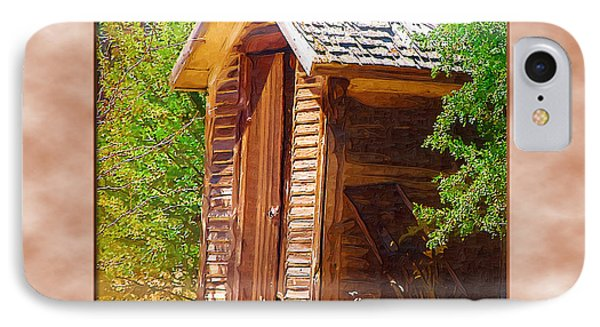 IPhone Case featuring the photograph Outhouse 1 by Susan Kinney