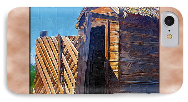 IPhone Case featuring the photograph Outhouse 2 by Susan Kinney