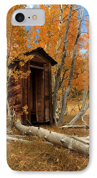 Outhouse In The Aspens Phone Case by James Eddy
