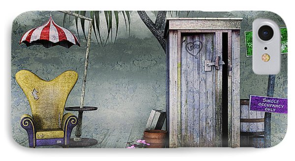 Outhouse IPhone Case by Jutta Maria Pusl