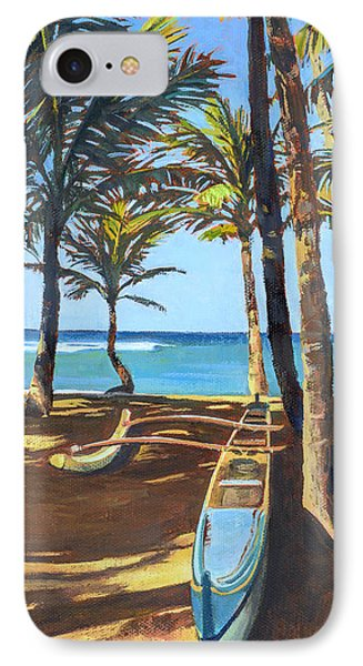Outrigger Canoe At Mama's Fish House IPhone Case by Stacy Vosberg