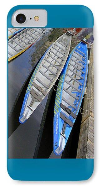 Outrigger Canoe Boats Phone Case by Ben and Raisa Gertsberg